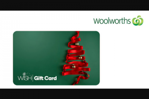 Student Edge – Win a $500 Woolworths Wish Egift Card (prize valued at $500)