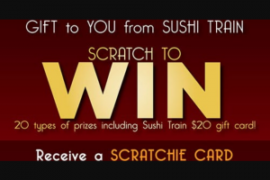 Sushi Train – Win this Christmas at Sushi Train