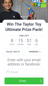 Taylor Toy – Win The Taylor Toy Ultimate Prize Pack (prize valued at $94)