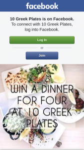 Ten Greek Plates – Win a Greek Feast for You and Three Friends Valued at $250. (prize valued at $250)