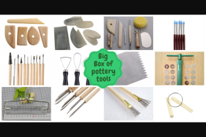 The Ceramic School – Win a $198 Box of Pottery Tools (prize valued at $198)