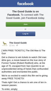 The Good Guide – Win Freetickets ] The Old Man & The Gun