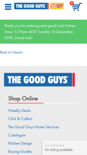 The Good Guys – 'win 1 of 5 Vitamix Ascent® Series A2300i Highperformance Blenders – red' Competition (prize valued at $895)