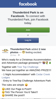 Thunderbird Park – Is Valued Over $300 (prize valued at $300)