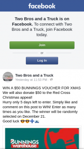 Two Bros and a Truck – Win a $50 Bunnings Voucher for Xmas