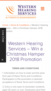 Western Hearing – Win a Christmas Hamper Valued at $100. (prize valued at $100)