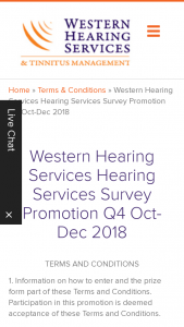 Western Hearing – Win (1) Coles Myer Gift Card Valued at $50. (prize valued at $50)