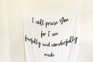 Wrapped In His Word – Win this Muslin Scripture Wrap