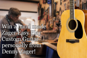 Zager Guitar – Win an Exclusive Zager Easy Play Custom Guitar and a Deluxe Accessories Package (prize valued at $1,718)
