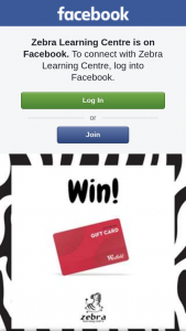 Zebra Learning Centre – a $288 Westfield Gift Card