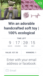 Znuggle – Win an Adorable Handcrafted Soft Toy | 100% Ecological (prize valued at $59)