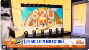 Channel 7 – Sunrise Cash Cow – Win $20 Million Milestone – 2019