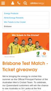 Alinta Energy – Win The Chance to See Australia Vs Sri Lanka at The First Domain International Test Match