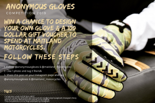 Anonymous Gloves – Randomly Selected and Announced Via @anonymous_gloves Instagram Story