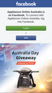 Appliances Online Australia – In Affiliation With Weber (prize valued at $709)