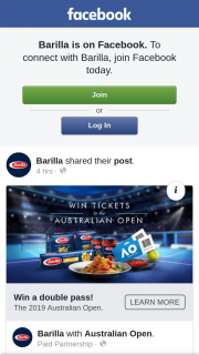 Barilla – Are Randomly Selected After Fulfilling Requirements (prize valued at $2,500)