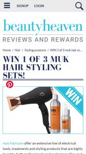 Beauty Heaven – Will Score a Muk Hair Styling Set