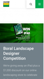 Boral Masonry – Virtual Landscape Designer Competition & – Win The Competition (prize valued at $1,469)