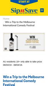 Bottlemart – Sip n Save – Win The Prize (prize valued at $3,540)