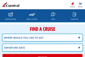 Carnival Cruises – Will Be Notified By Email (prize valued at $3,696)