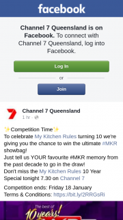Channel 7 Queensland – Win The Ultimate #mkr Showbag