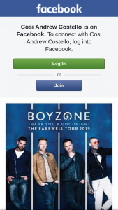 Cosi Andrew Costello – Tickets to See Boyzone Live In Concert??