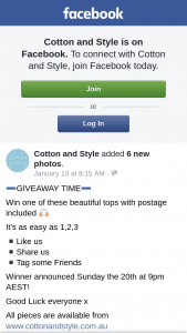 Cotton and Style – Win One of These Beautiful Tops With Postage Included