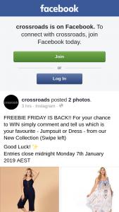 CrossRoads Freebie Friday – Win a $500.00 Eftpos Gift Card