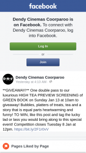 Dendy Cinemas Coorparoo – Win a Kingfish Packenter Today for Your Chance to Win