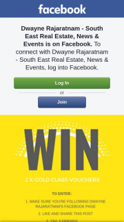 Dwayne Rajaratnam Real Estate – Win 2 X Gold Class Vouchers