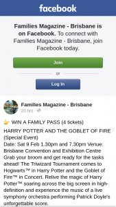 Families Magazine – Win a Family Pass (4 Tickets)