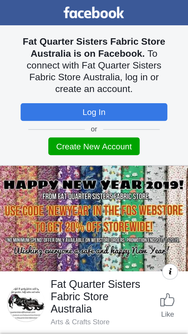 Fat Quarter Sisters Fabric Store – Standard Postage In Austr