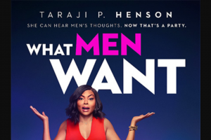 Female – Win One of 20 X In Season Double Passes to What Men Want