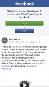 Film Focus – Win a Bag Pop Over to Our Instagram Page @capalabapark and Enter The Competition We Have Running There