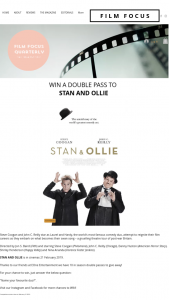 Film Focus – Win a Double Pass to Stan & Ollie