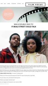 Film Focus – Win One of Ten If Beale Street Could Talk Double Passes