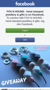 Fox N hound hand stamped jewellery – Win One of My Coco Design Keychains