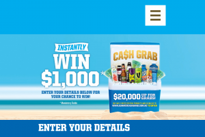 Frucor Summer Cash Grab – Win $1000 Instantly (prize valued at $20,000)