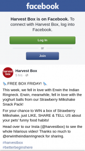 Harvest Box – Win a Box of Strawberry Milkshake