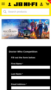 JB HiFi – Win an Exclusive Doctor Who Poster Signed By The Incomparable Jodie Whittaker (prize valued at $100)