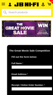 JBHiFi Purchase specially marked titles for a chance to – Win a Years Worth of Gold Class Movie Tickets (prize valued at $3,848)