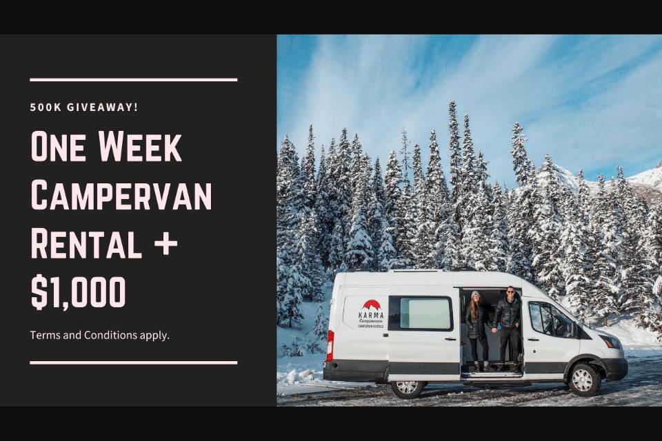 Karma Campervans – Win a One Week Campervan Trip (prize valu