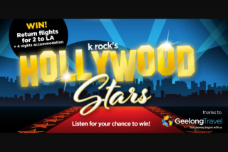 Krock 95.5 Geelong – Return Flights for 2 to Los Angeles