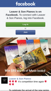 Leaver pianos – Win a $50 &#128176 to Use In Store (prize valued at $50)
