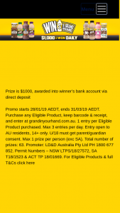 Lion Promos – Win Prizeprovisionalwinnerswillbecontactedbythe Promoter Within14businessdaysinordertoverifytheir Entry Prior to The Award of Any Prize (prize valued at $63,000)