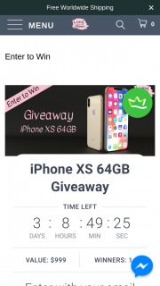 Living Cases – Win Iphone Xs 64gb Worth $999. (prize valued at $999)