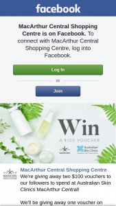 MacArthur Central – Two $100 Vouchers to Our Followers to Spend at Australian Skin Clinics Macarthur Central