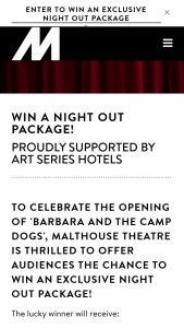 Malthouse Theatre – Win a Night Out Package (prize valued at $760)