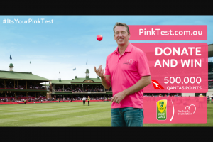 McGrath Foundation – Win 500000 Qantas Points Worth Approx $12584. (prize valued at $89.5)