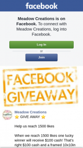 Meadow Creations – Will Receive $100 Cash